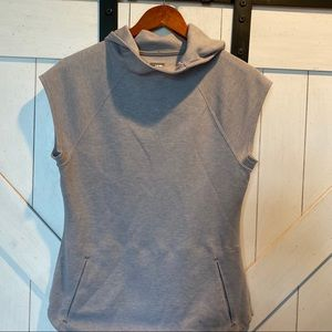 Northface gray hooded short sleeve